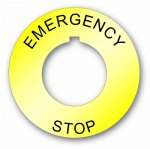 Plastic Legend Plate - 30mm Emergency Stop