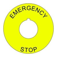 22mm Emergency Stop Legend Plate