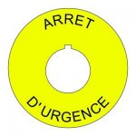 22mm French Emergency Stop Legend Plate
