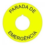22mm Spanish Emergency Stop Legend Plate