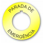 Plastic Legend Plate 30mm Emergency Stop Spanish