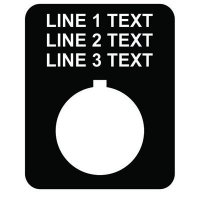 22mm Rectangular Legend Plate, 3 Lines