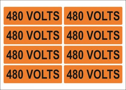 Voltage Decals