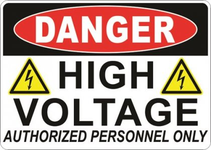 "5"" x 7"" Danger High Voltage Decal"