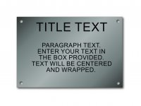 "Stainless Steel 4"" x 6"" Engraved Information Sign"