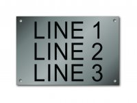 "Stainless Steel Nameplate - 4"" x 6"" - 1"" Text"