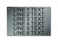 "Stainless Steel Nameplate - 4"" x 6"" - 1/2"" Text"