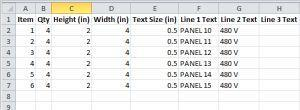 spreadsheet template *.xls